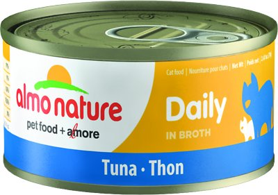 Almo Nature Daily Tuna in Broth Grain-Free Wet Cat Food, 2.47-oz, case of 24