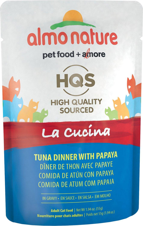 Almo Nature HQS La Cucina Tuna with Papaya Grain-Free Wet Cat Food, 1.94 oz