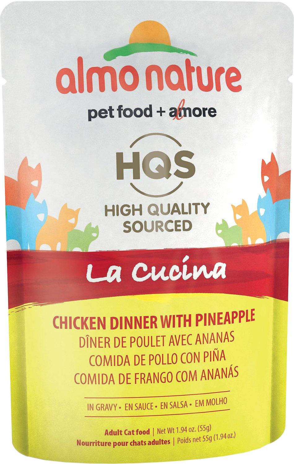 Almo Nature HQS La Cucina Chicken with Pineapple Grain-Free Wet Cat Food, 1.94 oz