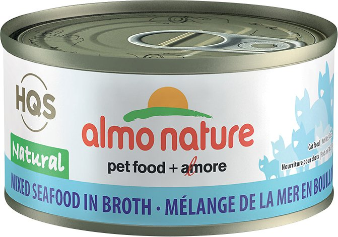 Almo Nature Legend 100% Natural Mixed Seafood Adult Grain-Free Canned Cat Food, 2.47-oz
