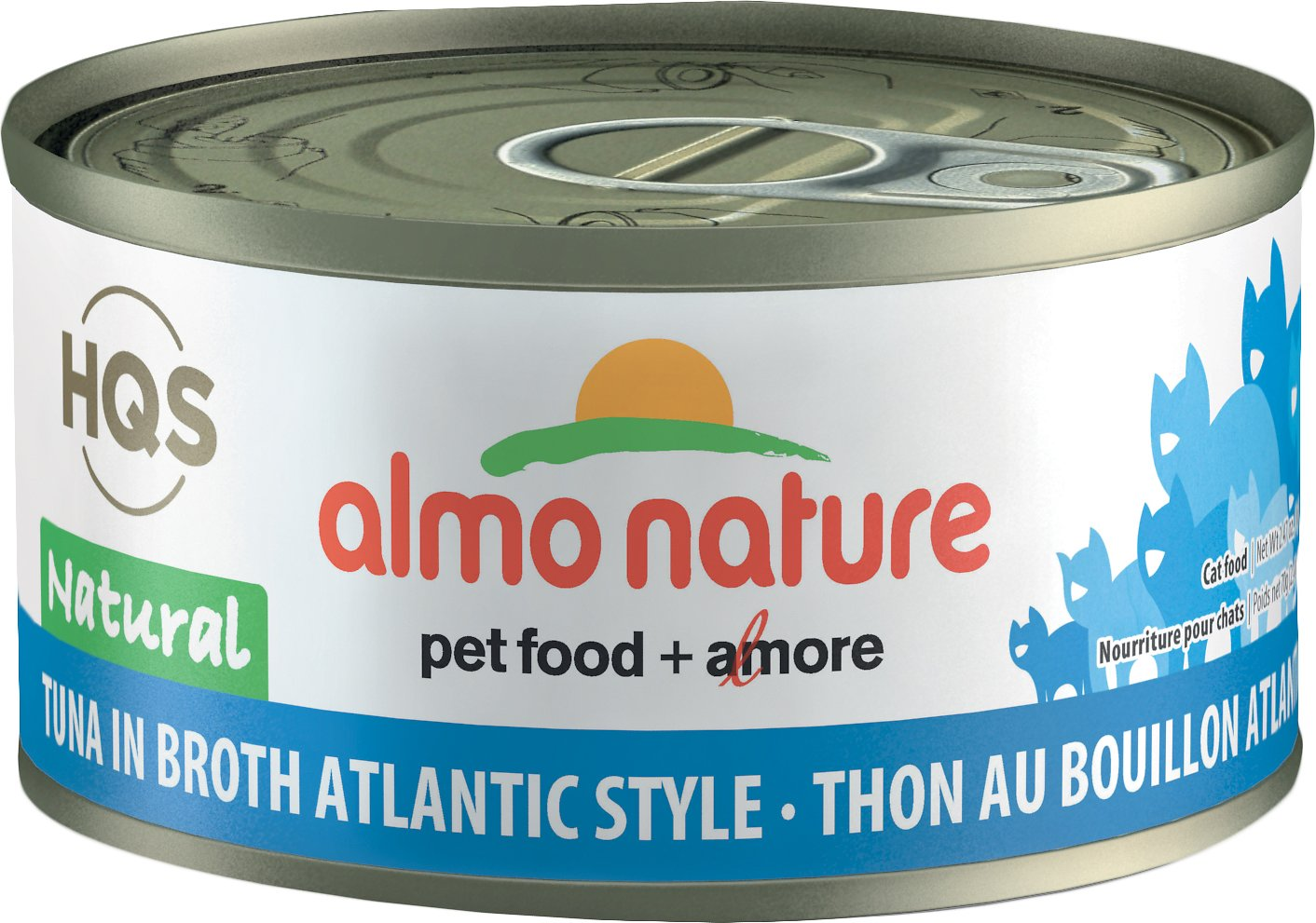 Almo Nature HQS Natural Tuna in Broth Atlantic Style Grain-Free Wet Cat Food, 2.47-oz