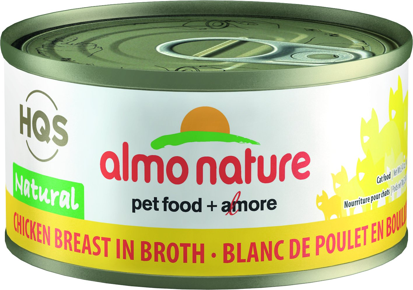 Almo Nature HQS Natural Chicken Breast in Broth Grain-Free Canned Cat Food, 2.47-oz