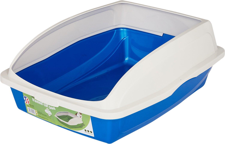 Van Ness Large Framed Cat Litter Pan, Blue, Large Image