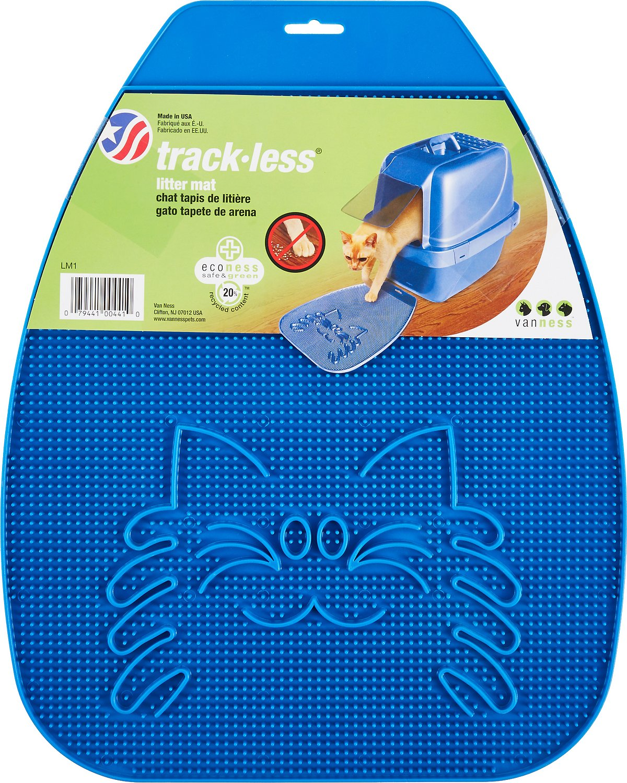 Van Ness Track-Less Litter Mat, Blue