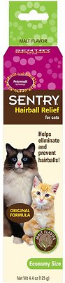 Sentry HC Petromalt Hairball Relief Original Formula Malt Flavor Cat Treatment, 4.4-oz