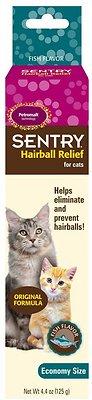 Sentry HC Petromalt Hairball Relief Original Formula Fish Flavor Cat Treatment, 4.4-oz