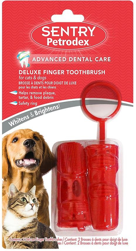 Sentry Petrodex Deluxe Finger Toothbrush for Dogs & Cats (Weights: 1.44 ounces) Image