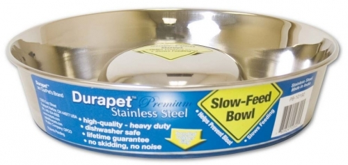 Durapet Slow Feed Bowl, Small 2 cups, 1.97'' H x 7.58'' W
