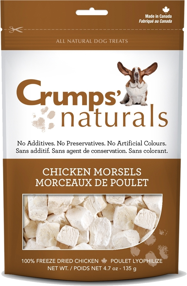 Crumps' Naturals Chicken Morsels Dog Treats, 2.3-oz