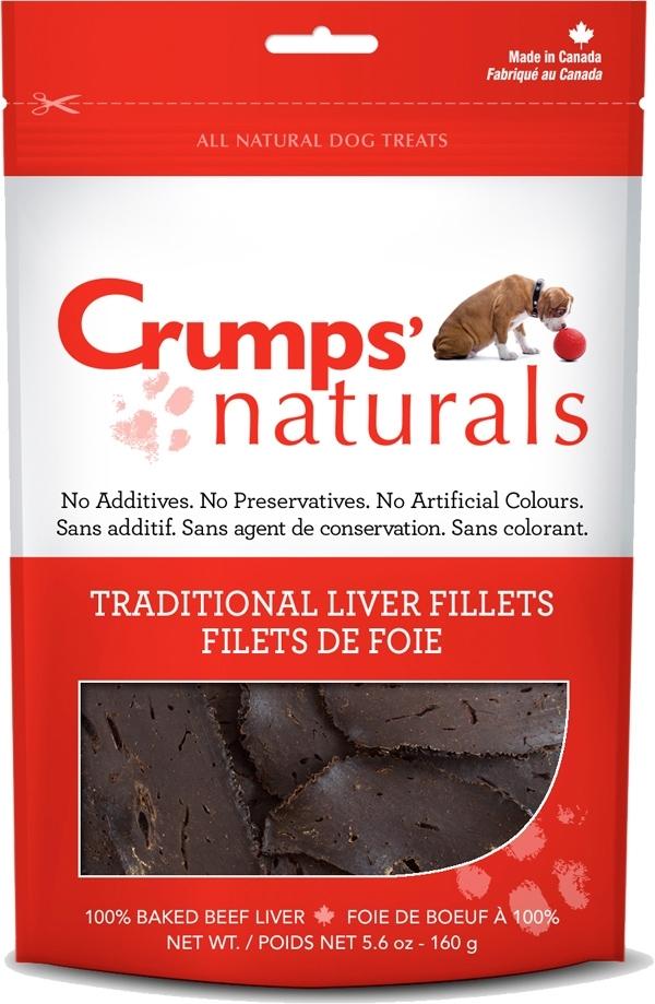 Crumps' Naturals Traditional 100% Beef Liver Fillets Dog Treats, 2.4-oz