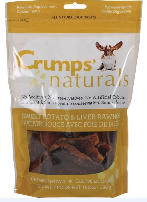 Crumps' Naturals Sweet Potato and Beef Liver Dog Treats, 5.6-oz