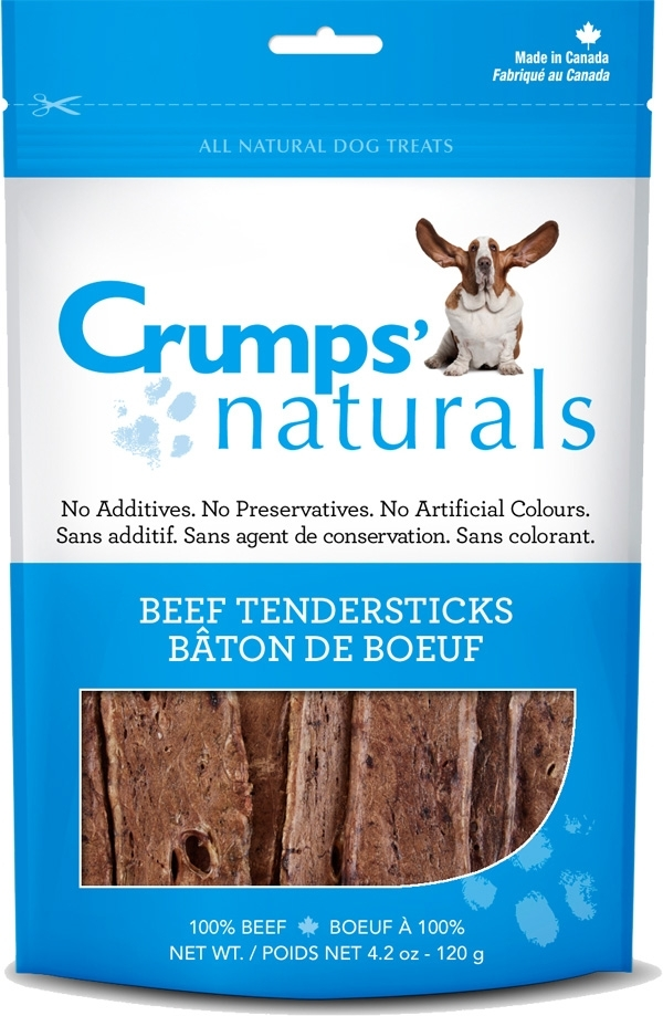 Crumps' Naturals Beef Lung Tendersticks Dog Treats, 4.2-oz