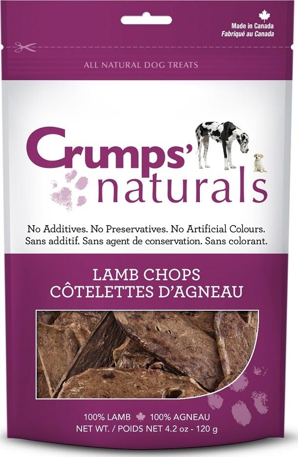 Crumps' Naturals Lamb Chops Dog Treats, 1.9-oz