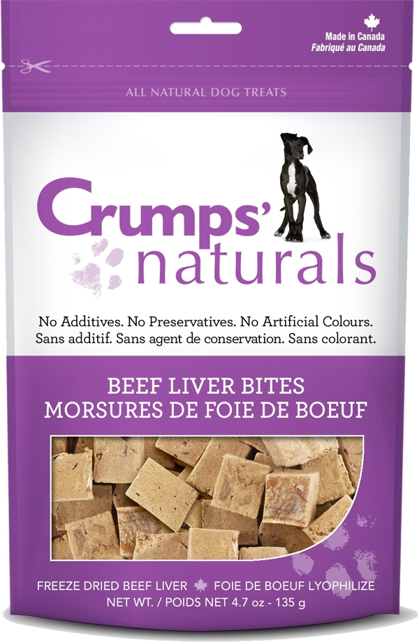 Crumps' Naturals Beef Liver Bites Dog Treats, 4.7-oz