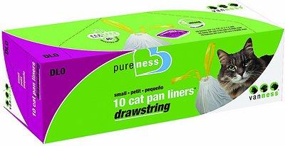 Van Ness Drawstring Cat Pan Liners, Small, 10 count