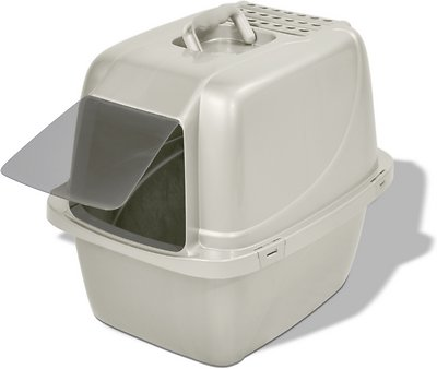 Van Ness Enclosed Cat Litter Pan, Large, White