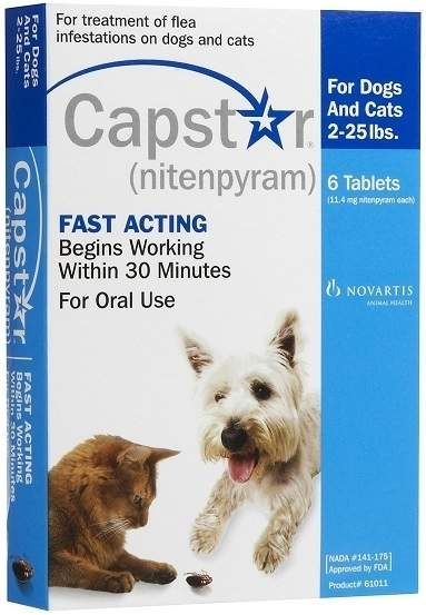 Capstar Flea Treatment for Cats and Dogs, 6 Month - Dogs and Cats 2-25 lbs