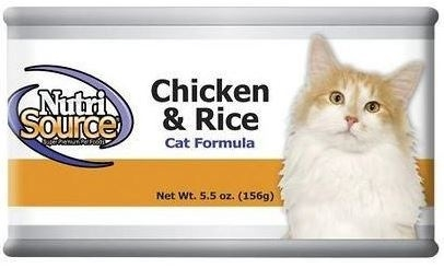NutriSource Cat and Kitten Chicken and Rice Canned Cat Food, 5-oz