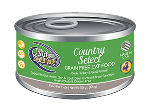 NutriSource Grain Free Country Select Canned Cat Food, 5.5-oz