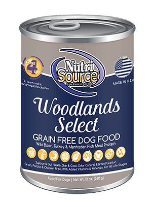 NutriSource Grain Free Woodlands Select Canned Dog Food, 13-oz