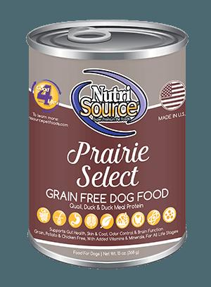 NutriSource Grain Free Prairie Select Canned Dog Food, 13-oz