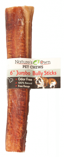 Nature's Own USA Odor-Free Jumbo Bully Sticks, 6-inch