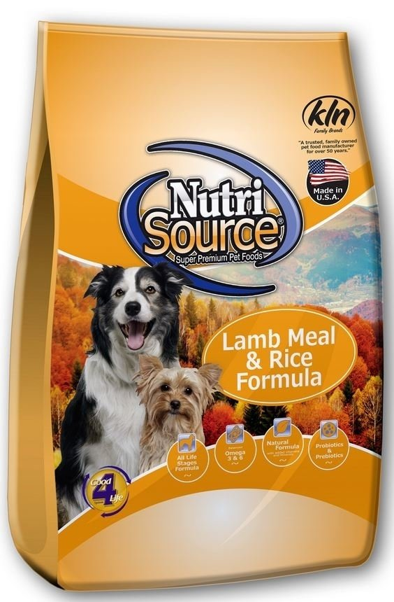 NutriSource Lamb Meal and Rice Dry Dog Food, 18-lb