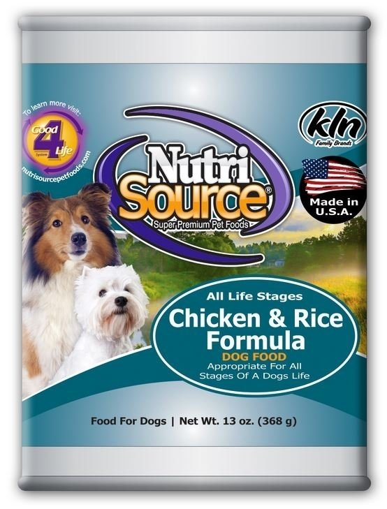 NutriSource Adult Chicken and Rice Canned Dog Food, 13-oz