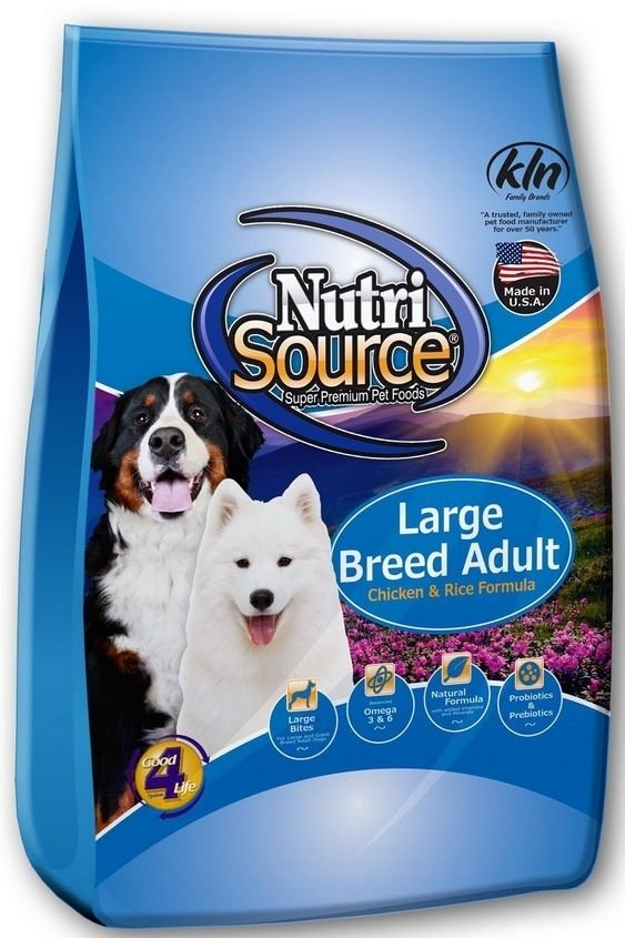 NutriSource Adult Large Breed Chicken and Rice Dry Dog Food, 30-lb (Size: 30-lb) Image