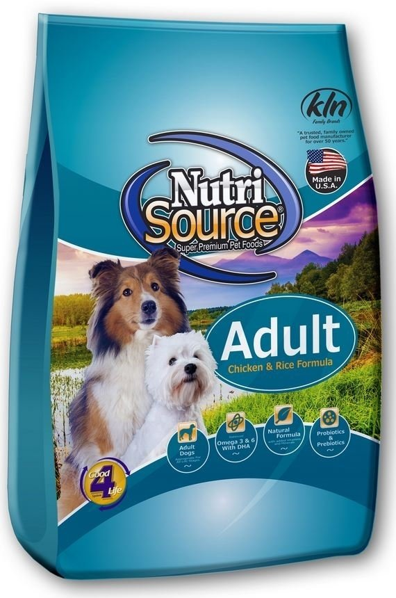 NutriSource Adult Chicken and Rice Dry Dog Food Image