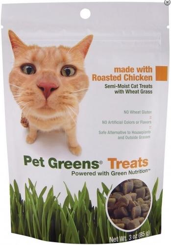 Pet Greens Cat Greens Semi Moist Roasted Chicken Cat Treats, 3-oz (Size: 3-oz) Image