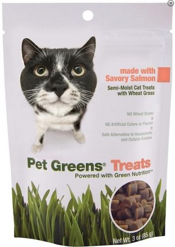 Pet Greens Cat Greens Semi Moist Salmon Cat Treats, 3-oz
