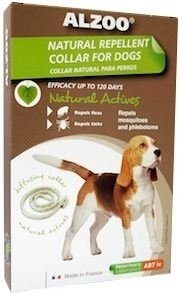 Alzoo Natural Repellent Flea and Tick Collar for Dogs (Size: Puppy/Small Breed) Image