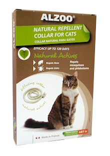 Alzoo Natural Repellent Flea and Tick Collar for Cats (Size: Collar) Image