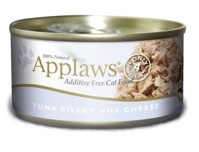 Applaws Additive Free Tuna Fillet with Cheese Canned Cat Food, 5.5-oz