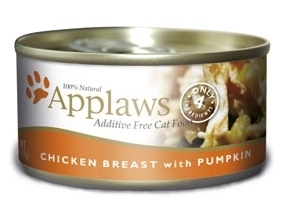 Applaws Additive Free Chicken Breast with Pumpkin Canned Cat Food, 2.47-oz