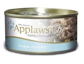 Applaws Additive Free Tuna Fillet Canned Cat Food, 2.47-oz