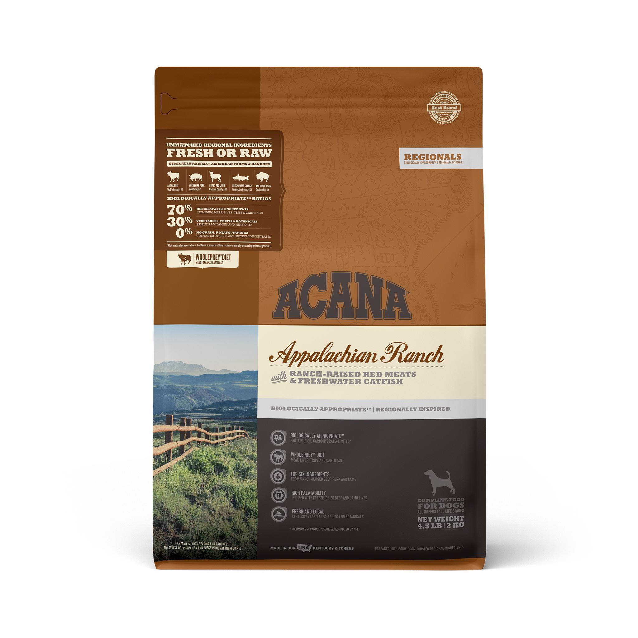 ACANA Regionals Appalachian Ranch Grain-Free Dry Dog Food, 4.5-lb