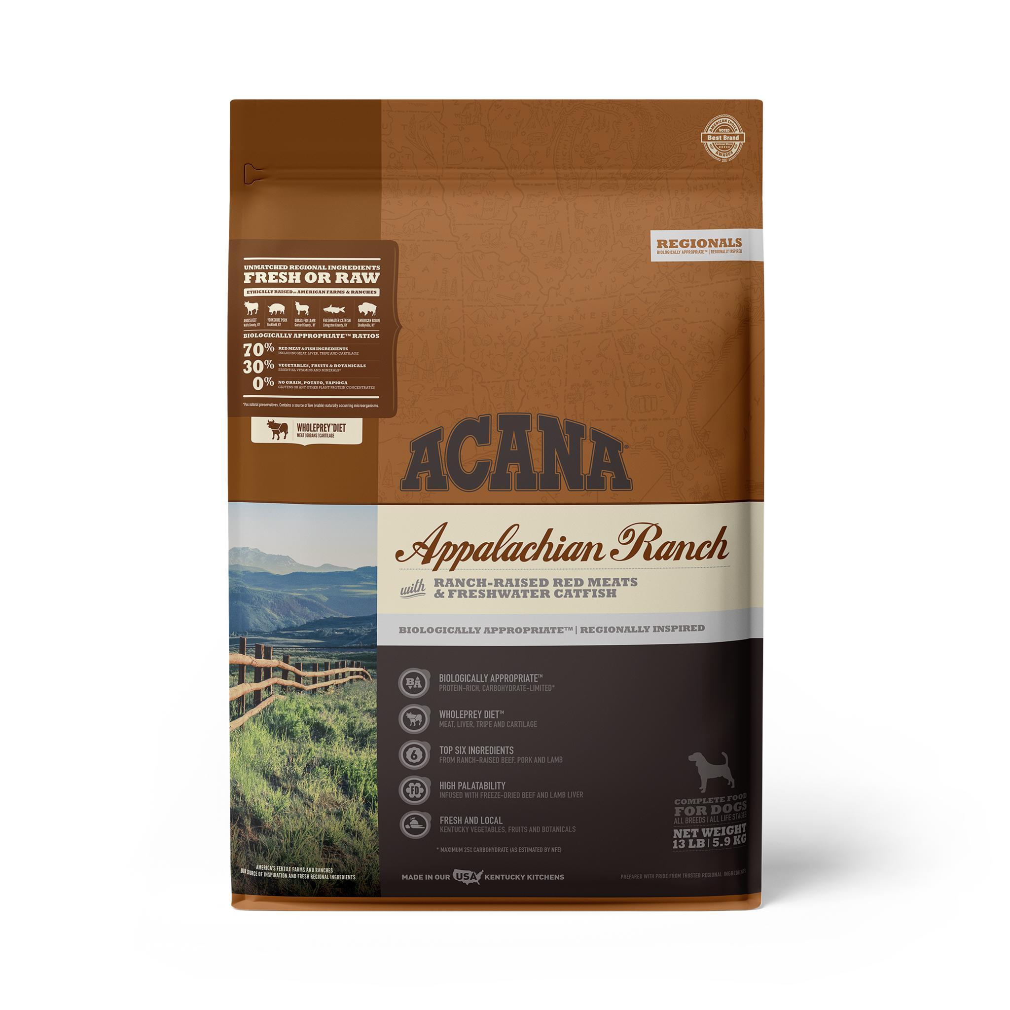 ACANA Regionals Appalachian Ranch Grain-Free Dry Dog Food, 13-lb