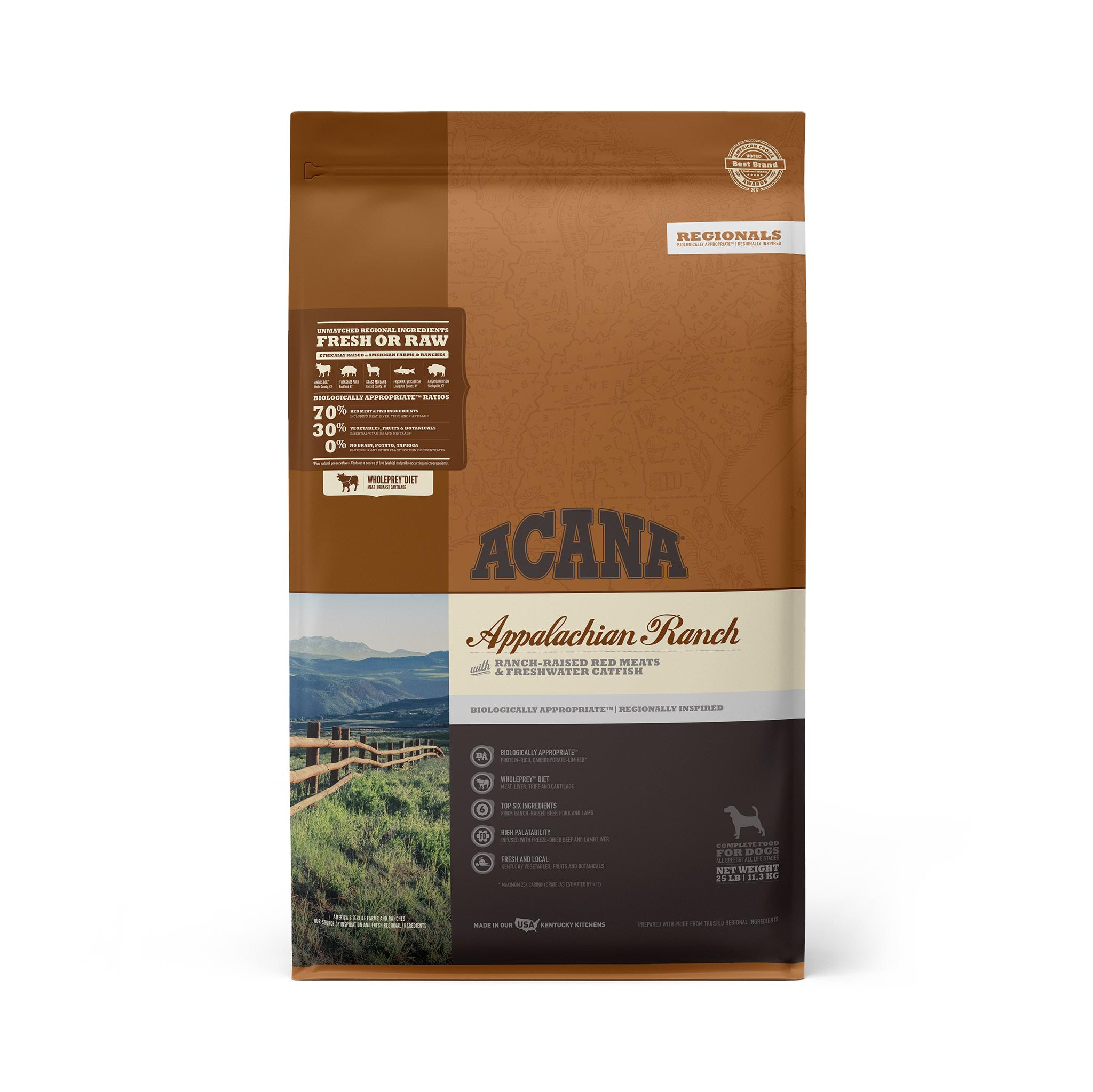 ACANA Regionals Appalachian Ranch Grain-Free Dry Dog Food, 25-lb