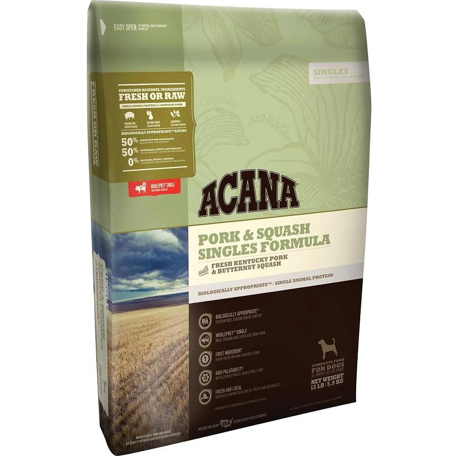 ACANA Singles Limited Ingredient Diet Pork & Squash Formula Dry Dog Food, 13-lb