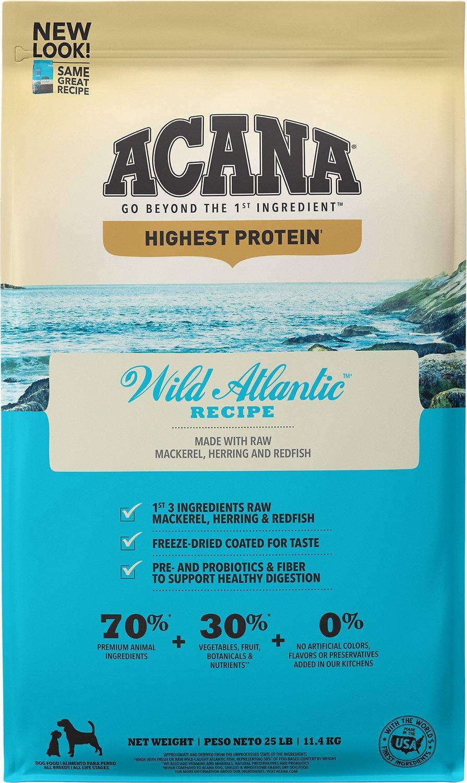 ACANA Regionals Wild Atlantic Grain-Free Dry Dog Food, 25-lb