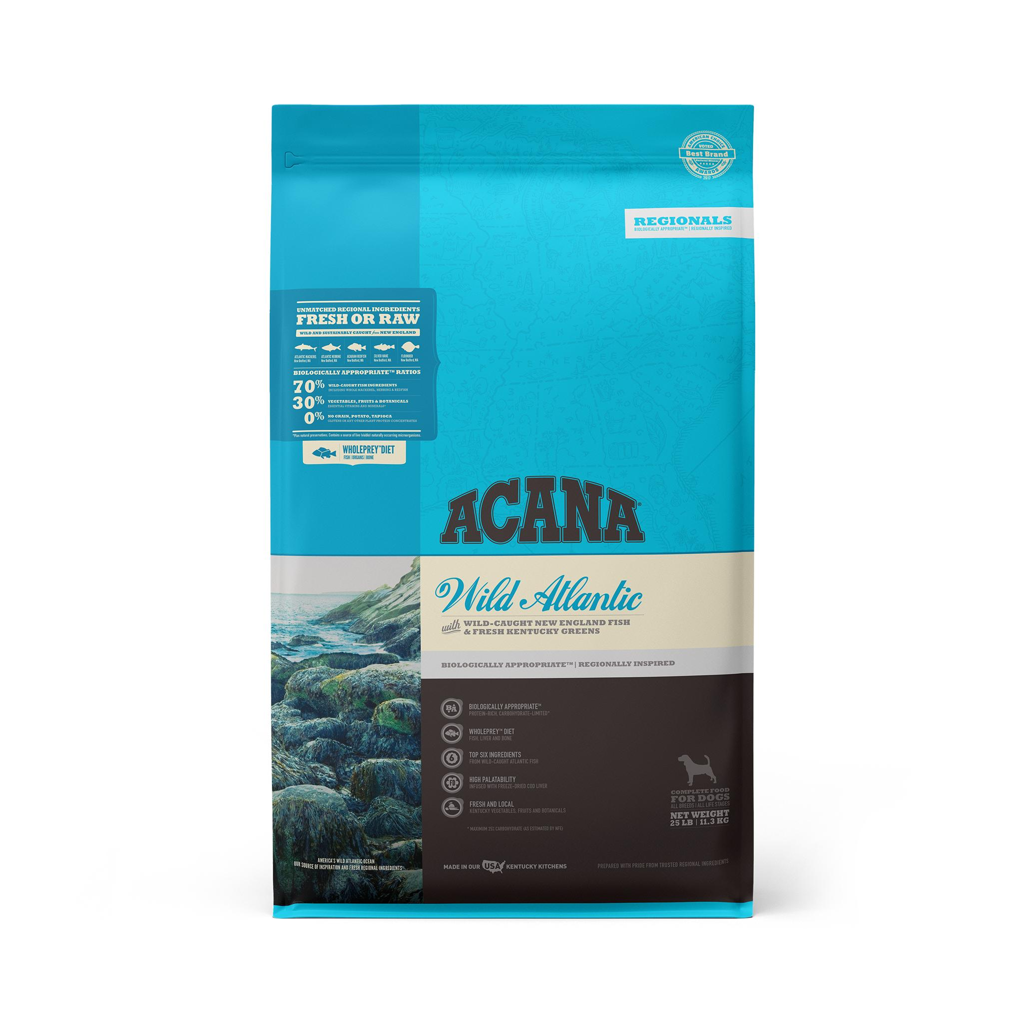 ACANA Regionals Wild Atlantic Grain-Free Dry Dog Food, 25-lb