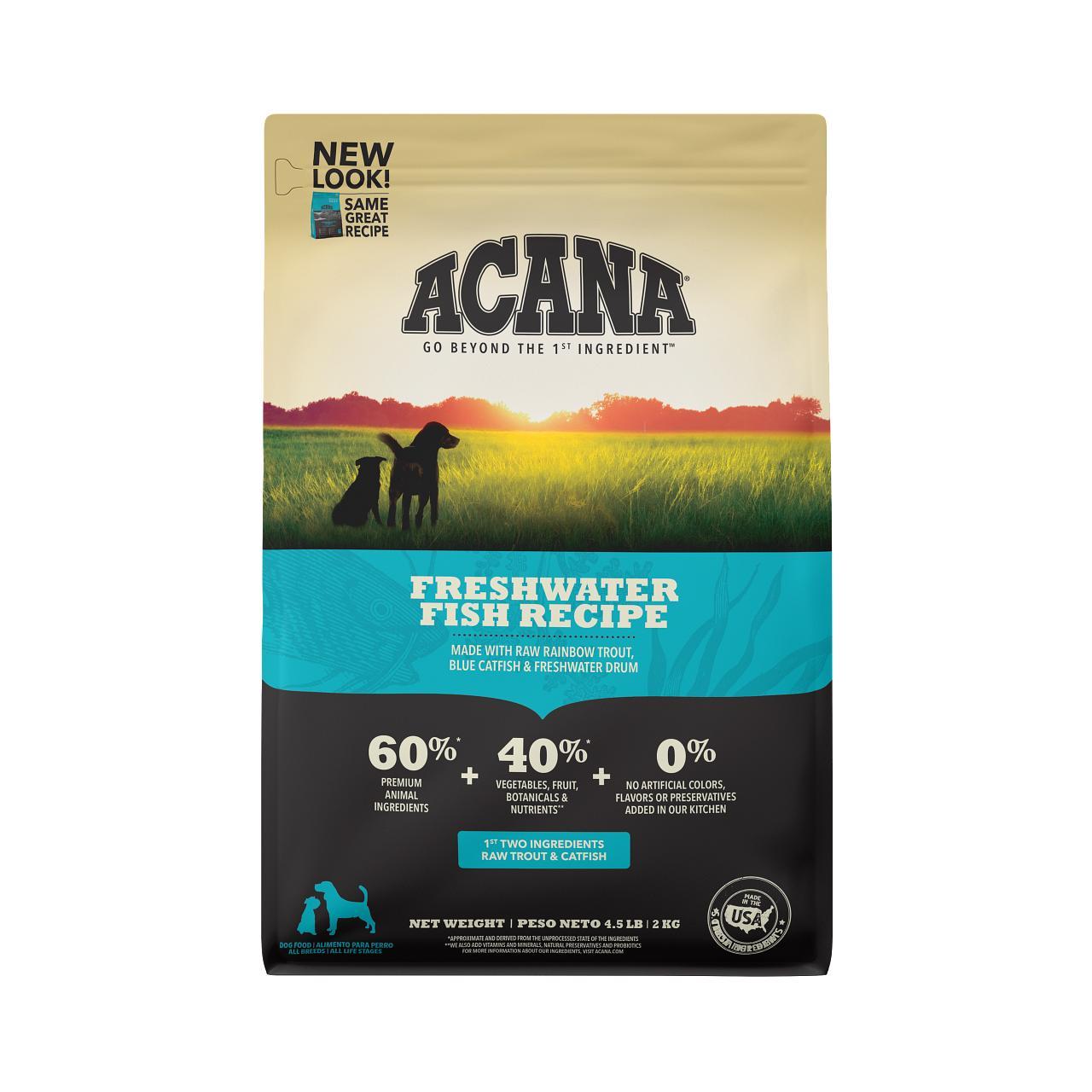 ACANA Freshwater Fish Grain-Free Dry Dog Food, 4.5-lb