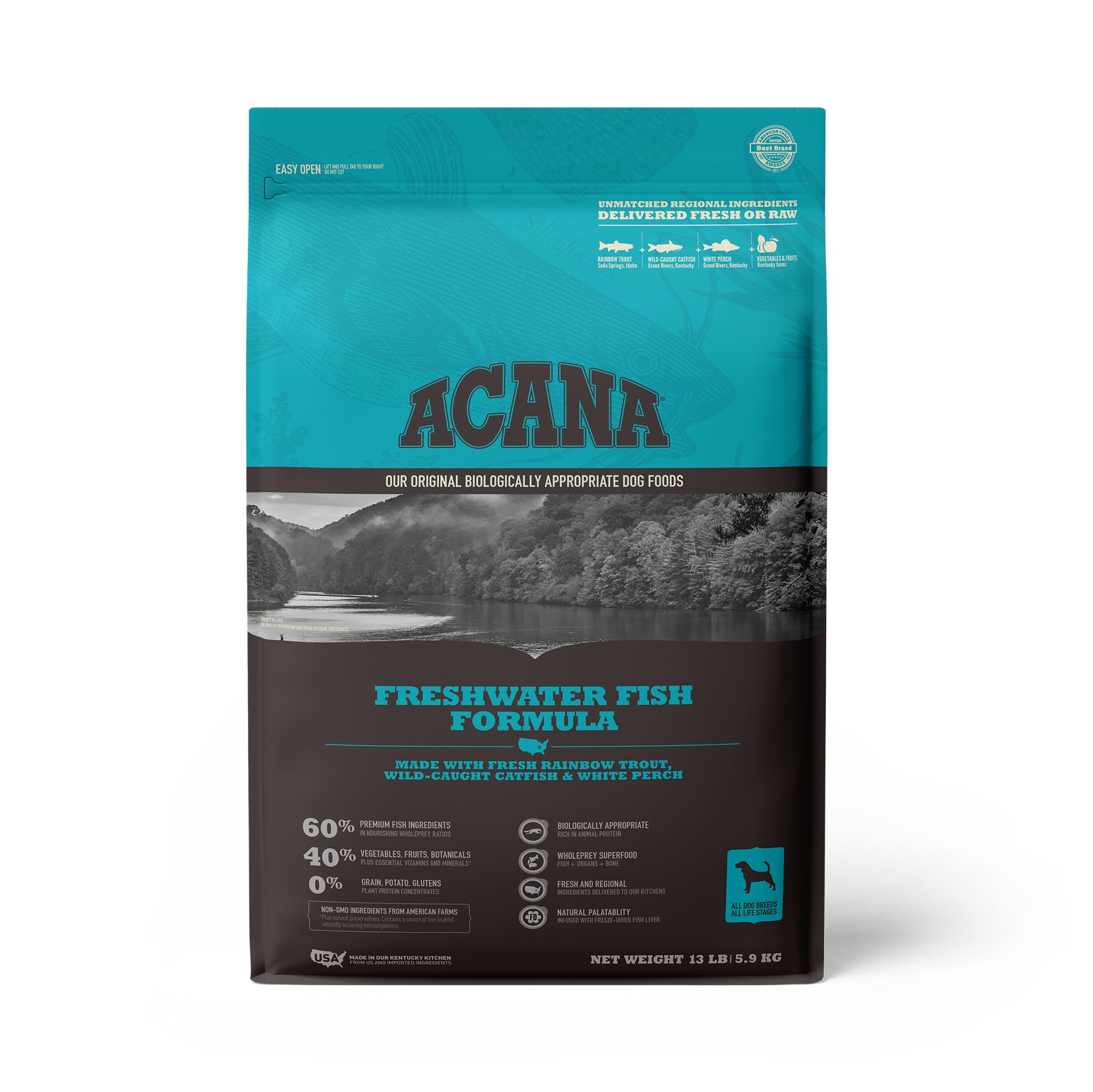 ACANA Freshwater Fish Grain-Free Dry Dog Food, 13-lb