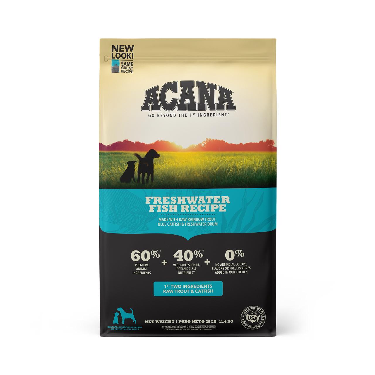 ACANA Freshwater Fish Grain-Free Dry Dog Food, 25-lb