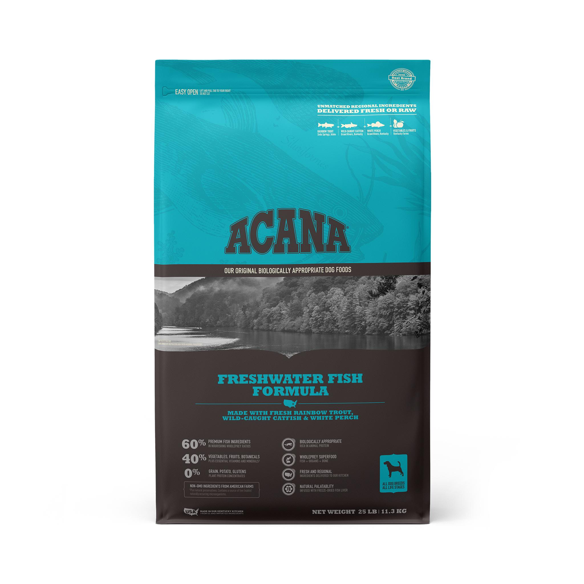 ACANA Freshwater Fish Grain-Free Dry Dog Food, 25-lb