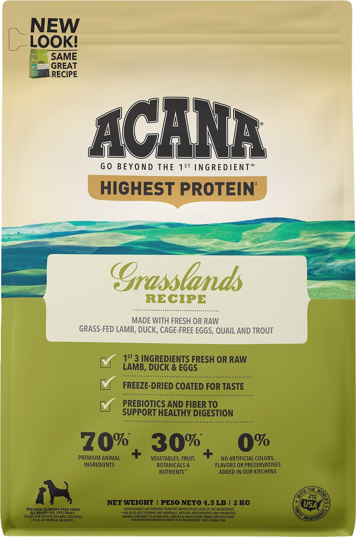 ACANA Regionals Grasslands Grain-Free Dry Dog Food, 4.5-lb