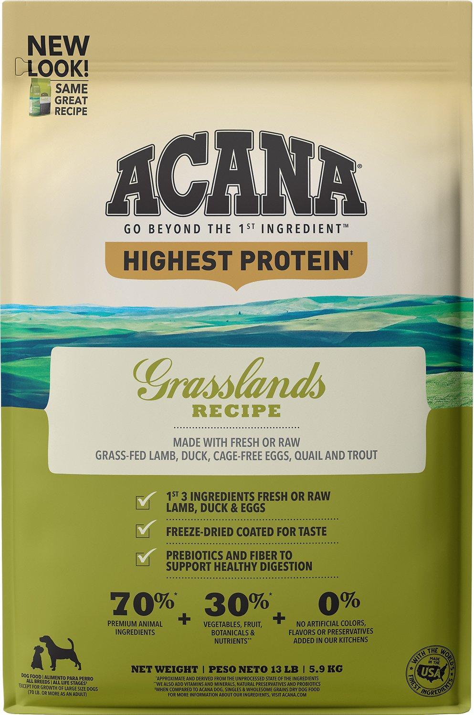 ACANA Regionals Grasslands Grain-Free Dry Dog Food, 13-lb