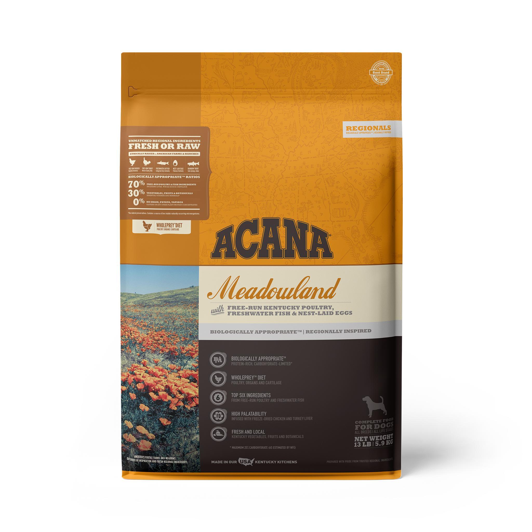 ACANA Regionals Meadowland Grain-Free Dry Dog Food, 13-lb